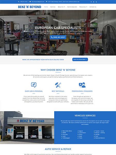 Maxeemize Online Marketing - Benz N Beyond Website Design