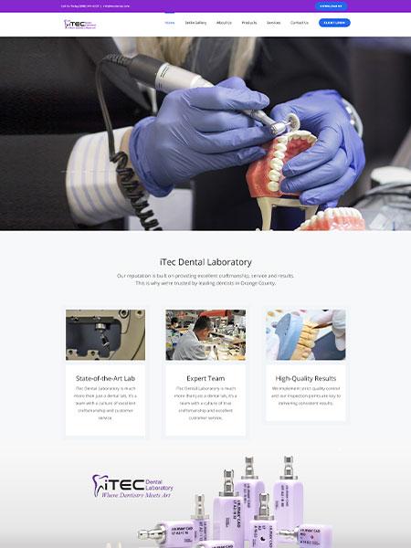 Maxeemize Online Marketing - ITec Dental Website Design
