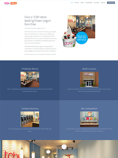Maxeemize Online Marketing - TCBY Website Design